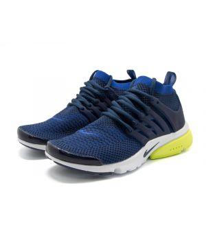 Nike Air Presto Ultra Flyknit темно-синие с желтым (40-45)