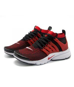 Nike Air Presto Ultra Flyknit красно-черные (40-45)