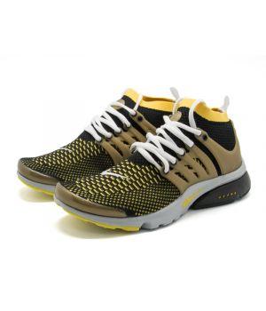 Nike Air Presto Ultra Flyknit черно-желтые (40-45)