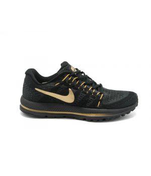 Nike Zoom Vomero 12 черные с золотым (40-45)