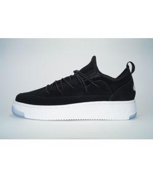 Nike Air Force Черные с белым (41-45)