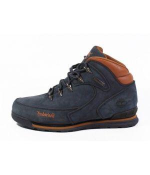 Зимние ботинки Timberland с мехом темно-синие унисекс (36-45)