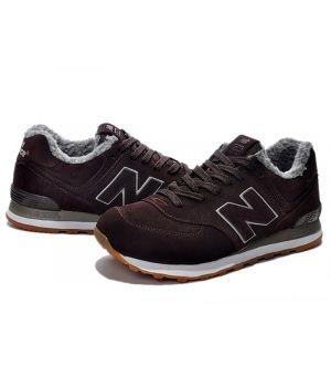 Зимние кроссовки New Balance коричневые (37-45)