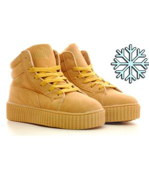 Зимние кроссовки Puma By Rihanna  жёлтые (36-40)