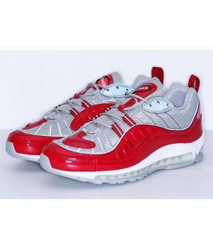Nike air max 98 Х Supreme красный/серебро (40-45)