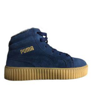 Зимние кроссовки Puma By Rihanna синие