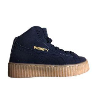 Зимние кроссовки Puma By Rihanna  тёмно синие