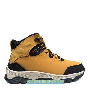 Зимние ботинки с мехом желтые (41-45)