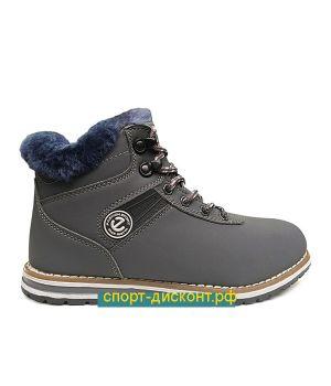 Зимние ботинки с мехом серые (36-40)