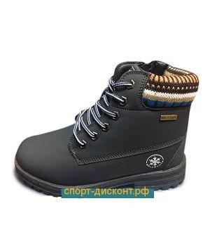 Зимние ботинки с мехом черные (36-40)