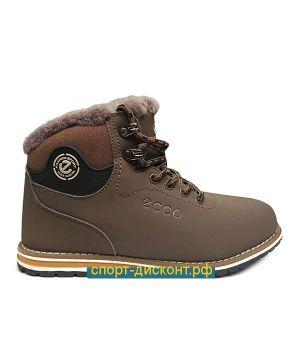 Зимние ботинки с мехом коричневые (36-40)
