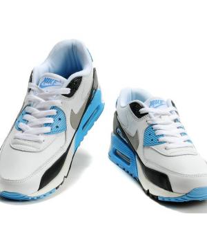 Nike Air Max 90 Мужские Бело-голубые