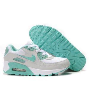 Nike Air Max 90 Женские Серо-бирюзовые