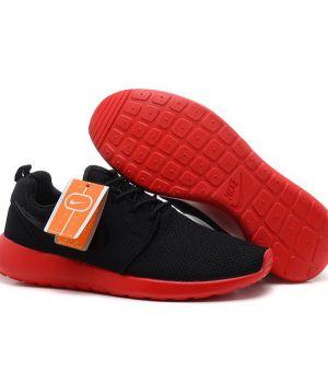 Nike Roshe Run Мужские Черные с Красным (41-45)