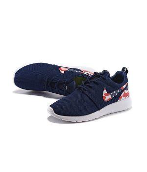 Nike Roshe Run Унисекс Синие с флагом