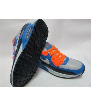Nike Air Max 90 Детские Черно-оранжевые (30-36)