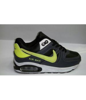 Nike Air Max 90 Детские Серо-салатовые (30-36)