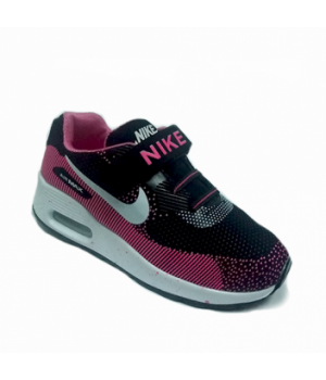 Nike Air Max 90 Детские Черно-розовые (30-36)